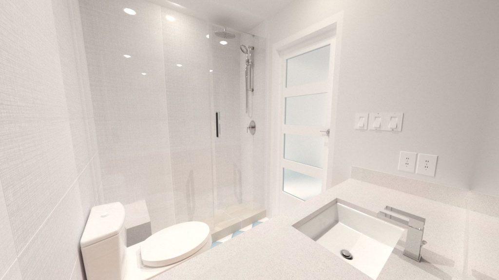 The bathroom rendering