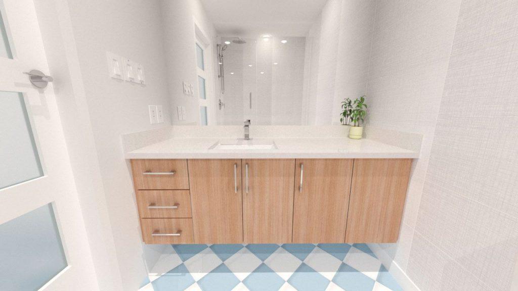 The Bathroom Vanity Rendering
