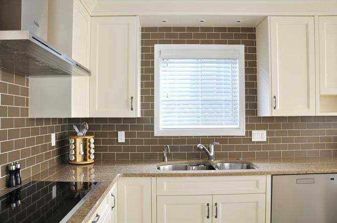 White Maple Columbia Kitchen Cabinets